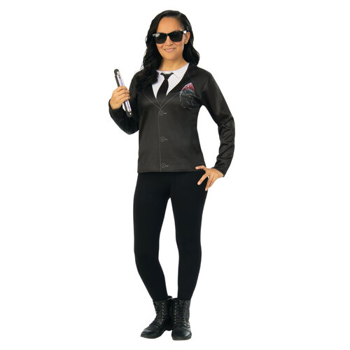 Agent M Female Costume Top: Men In Black 4 Adult