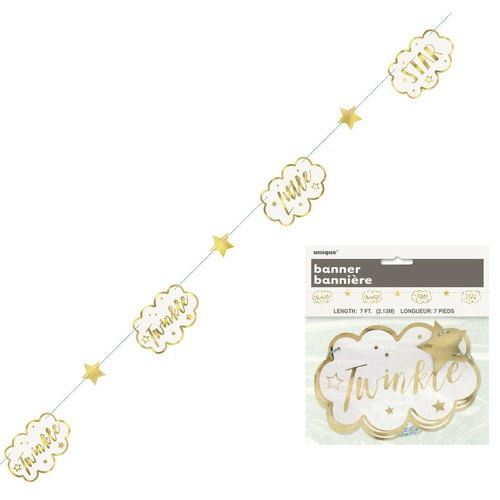Twinkle star Paper Garland 7ft