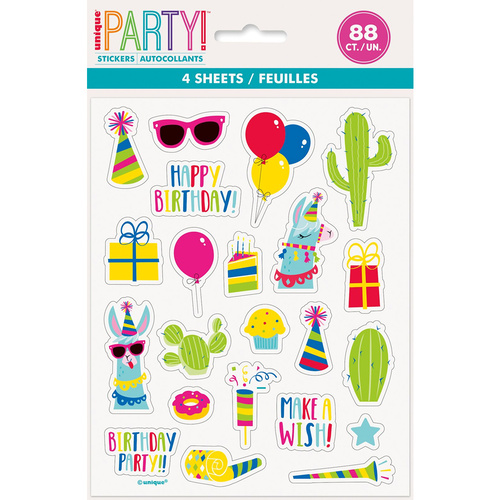Llama Party 4 Sticker Sheets