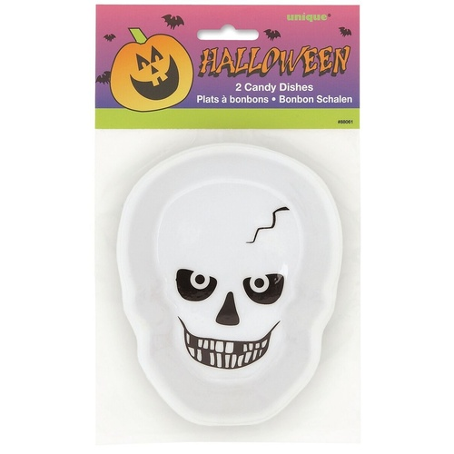 2 Skull Candy Dishes