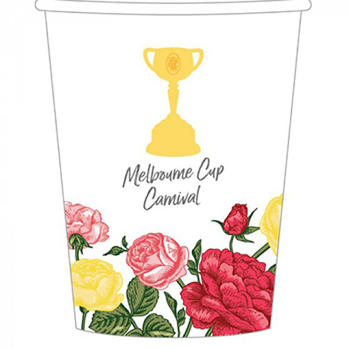 Melbourne Cup Carnival 266ml Paper Cup 8 Pack