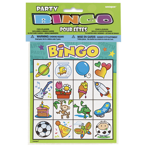 Bingo Party Game Foe 8