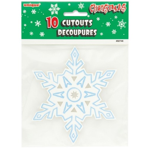10 Mini Snowflake Cutouts