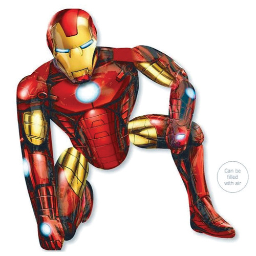 Airwalker Iron Man (93cm x 116cm) Foil Balloon