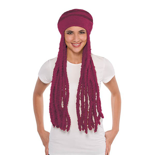 Wig Cap, Burgundy Dreadlock