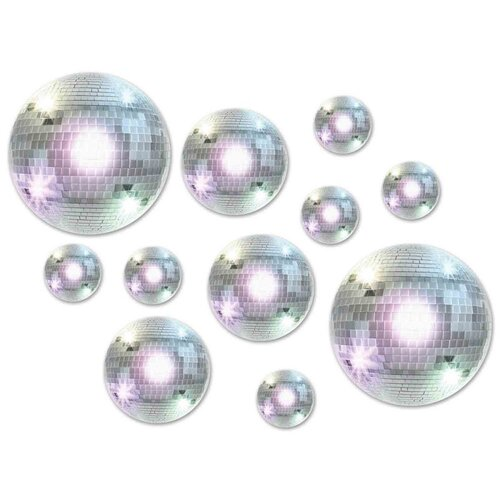 Cutouts Disco Balls Assorted Sizes Value Pack 20 Pack