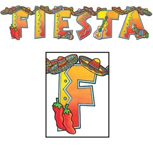 Fiesta Shaped Jointed Banner & string (20cm x 89cm)