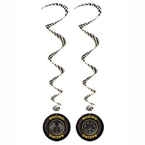 Hanging Decoration Whirls Race Car (Approx. 100cm Drop) 3 Pack