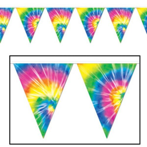 Banner Pennant Tie-Dyed (25cm High x 3.65M Long)