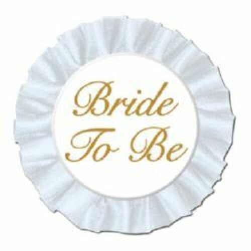 Bride To Be Button Satin Badge