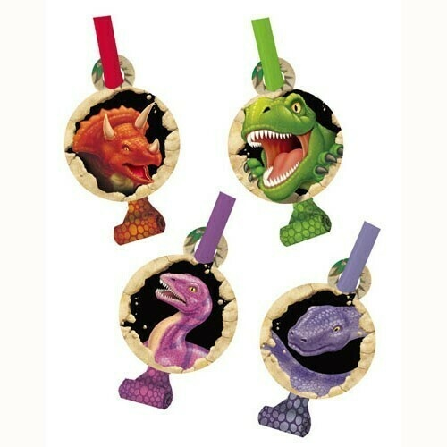 Dino Blast Blowouts & Medallions Pack Of 8