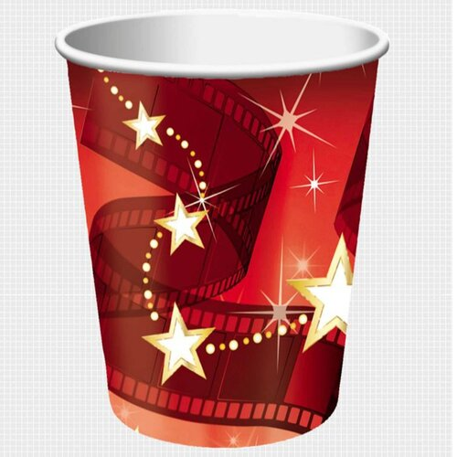 Hollywood Lights Cups Paper 266ml 8 Pack