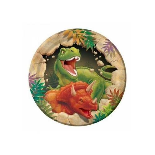 Dino Blast 18cm 8 Pack Luncheon Plates Paper