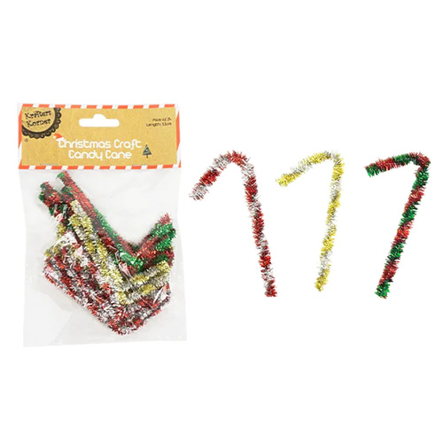 Xmas Craft Candy Cane 24 Pack