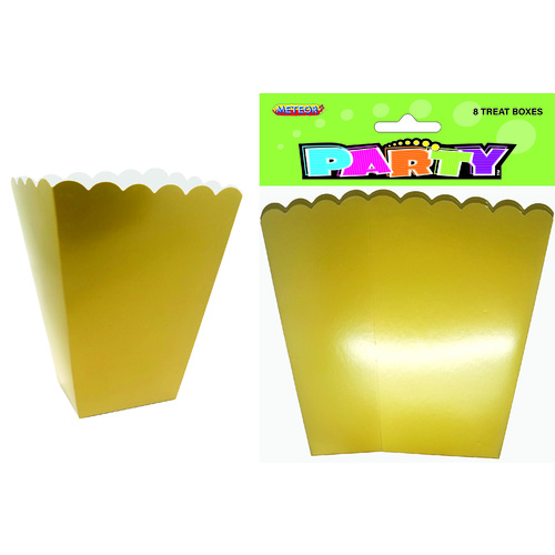 Treat Boxes - Gold 8 Pack