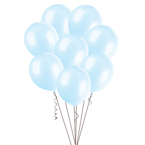 Baby Blue - 25 x 25cm (10) Decorator Balloons