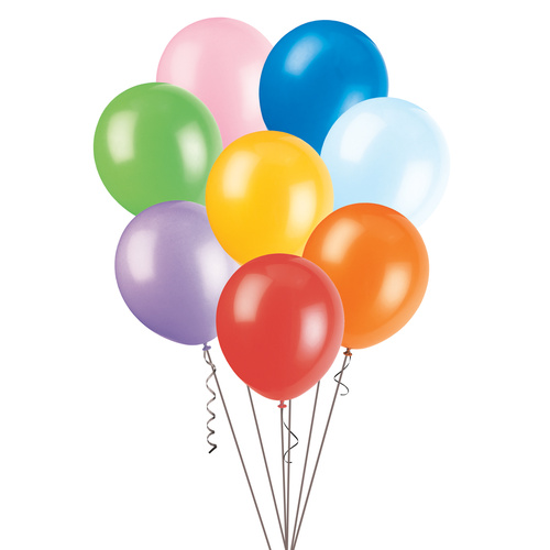 Assorted Colours - 25 x 25cm (10) Decorator Balloons