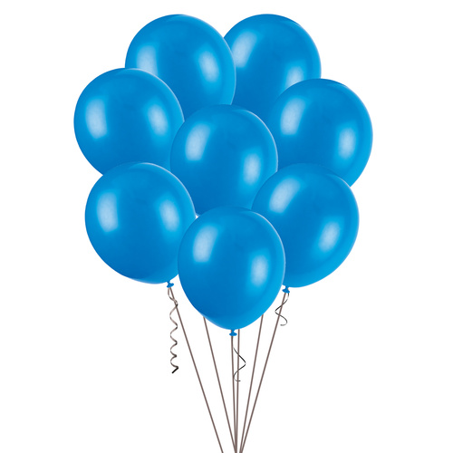 30cm Royal Blue Decorator Balloons 100 Pack