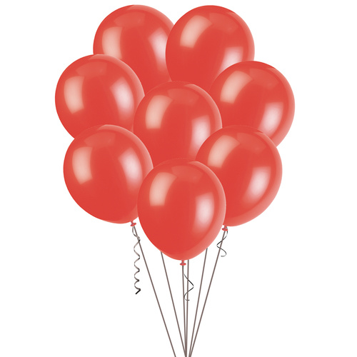 30cm Bright Red Decorator Balloons 100 Pack