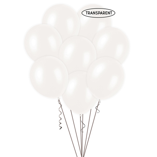 Clear 25 x 30cm (12) Decorator Balloons