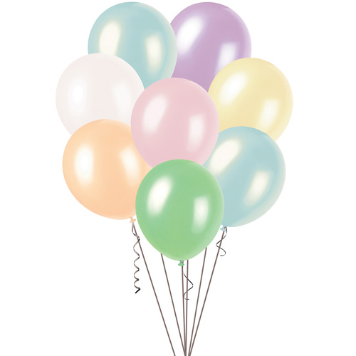 30cm Assorted Pearl Balloons 100 Pack