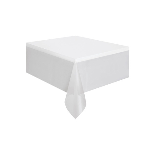 White Plastic Tablecover Rectangle