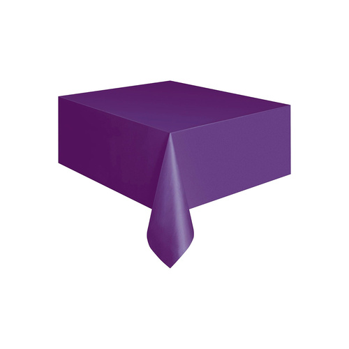 Purple Plastic Tablecover Rectangle