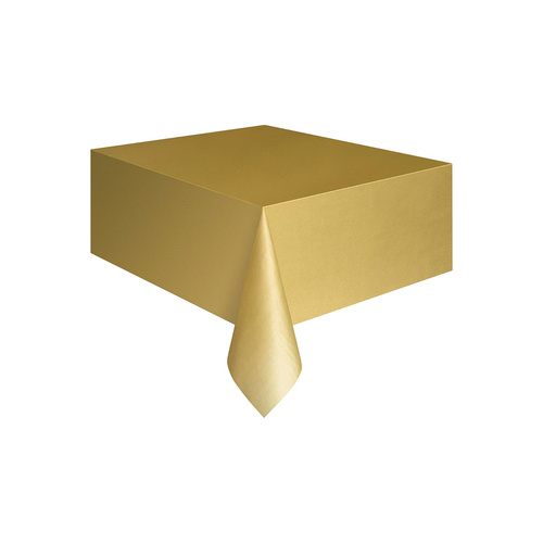 Gold Plastic Tablecover Rectangle