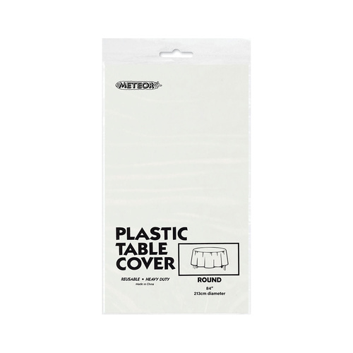 White Plastic Tablecover Round