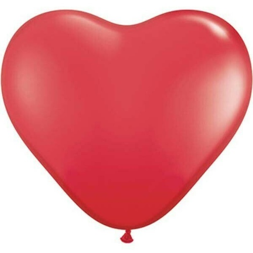 90cm Heart standard Red Latex Balloons 2 Pack