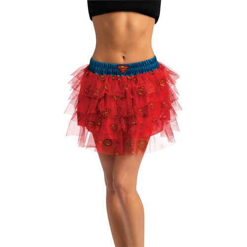 Supergirl Skirt With Sequins Adult Standard