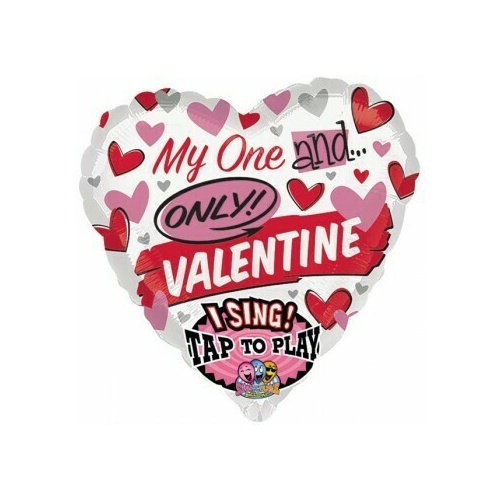 Sing-A-Tune My One And Only Valentine 74cm Foil Balloon